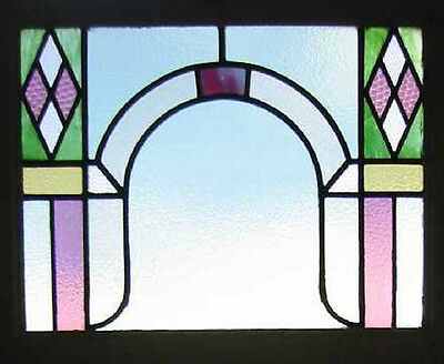 Beautiful Stylish Art Deco English Stained Glass Window