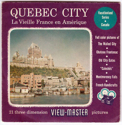 VIEW-MASTER UN-NUMBERED - QUEBEC CITY EXCELLENT COND.