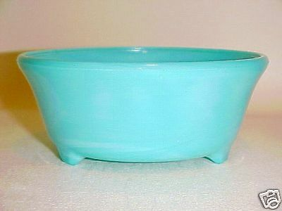 Rare Westite Bright Turquoise 320 Fern Bowl / Signed
