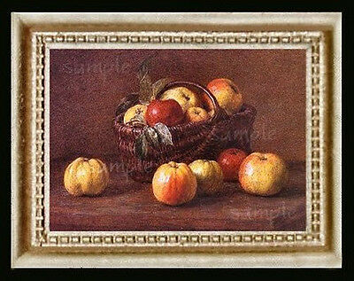 Apples Still Life Miniature Dollhouse Picture