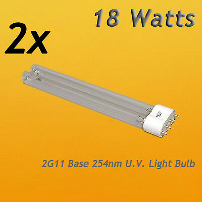 2 Pcs 18 watt UV Bulb Lamp for Coralife Turbo Twist 6x