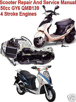 Scooter Repair Service Manual 50cc GY6 Chinese & Others