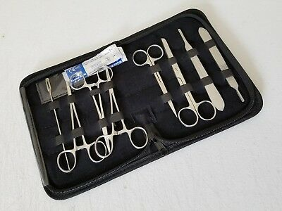 48 Pcs Minor Surgery Dissection Dissecting Student Kit Surgical Instruments