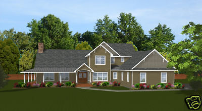 Custom Home House Plan 3,115 SF 2-story Blueprints