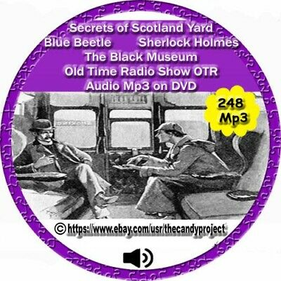Secrets of Scotland Yard Old Time Radio Show Blue Beetle  audiobooks OTR DVD