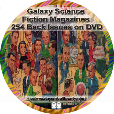 Galaxy Science Fiction Magazine 254 Pdf DVD Pulp Fiction Digest-size Back Issues