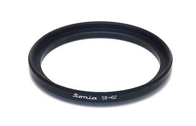 Metal Step up ring 58m to 62mm 58-62 Sonia New Adapter