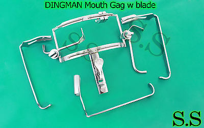 DINGMAN Mouth Gag W Blade Surgical Dental Instruments