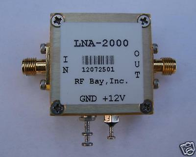 10KHz-2000MHz Low Noise Amplifier, LNA-2000, New, SMA
