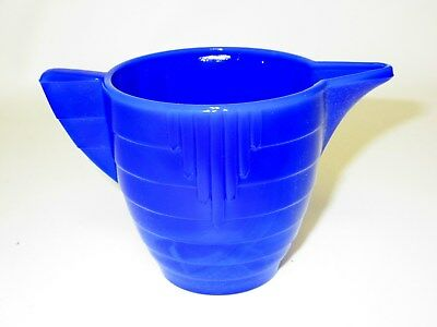 Akro Agate Child Tea Set Large Concentric Ring Royal Blue T-Pot Base