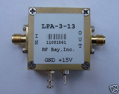 10KHz-3000MHz Wideband RF Amplifier, LPA-3-13, New, SMA