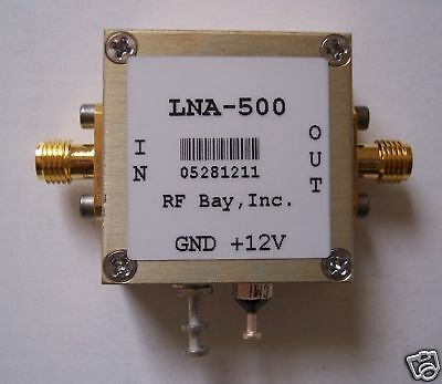 10-500MHz 18dB Low Noise Amplifier, LNA-500, New, SMA