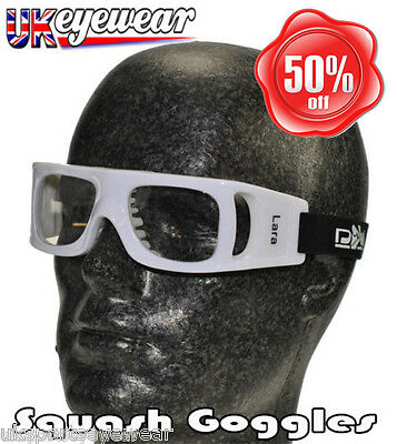 Squash Goggles Glasses (High Impact) Prescription