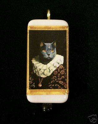 Noble Cat - Maltese - Domino Pendant With Matching Box