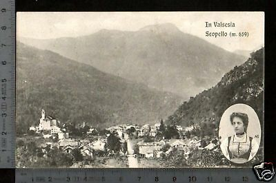 [11709] Vercelli - Scopello - Panorama E Costume _ 1908
