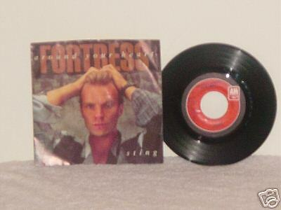 45 RPM  STING *FORTRESS AROUND YOUR HEART* 1985 NM