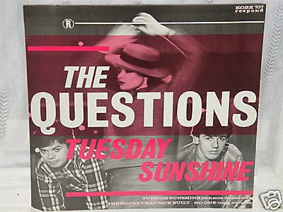 """The Questions - Tuesday Sunshine 12"""" Single 1984"""
