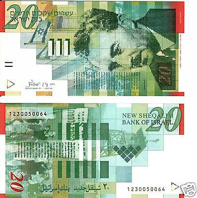 Israel 20 New Sheqalim   P-59  Uncirculated