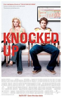 KNOCKED UP MOVIE POSTER 2 Sided ORIGINAL FINAL 27x40