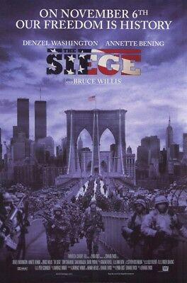 THE SIEGE MOVIE POSTER 2 Sided ORIGINAL ROLLED 27x40