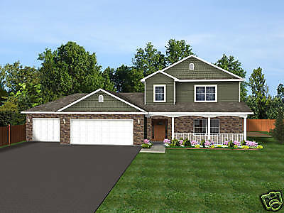 2-Story Home House Plan 2,209 SF Blueprints #0867