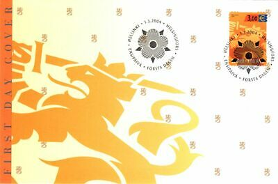 Lion Official Finland 3 Euro Stamp FDC 2004