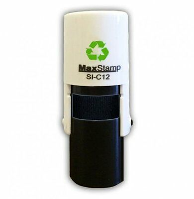 CUSTOM MADE SELF INKING RUBBER STAMP 10mm DIA MAX C12