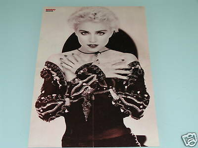 MADONNA~TOM CRUISE, Huge 1980s PINUP MAGAZINE POSTER