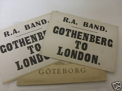 Royal Artillery  band Goteborg sweden tour souvenir book & labels