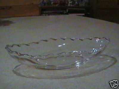 "Fostoria Glass Century Pickle Dish 8 3/4"" VGC"