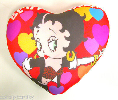 "Betty Boop 14"" Microbead Pillow Biker , Very Cute Heart Love Home decor licensed"