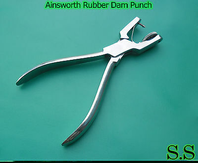 7 Ainsworth Rubber Dam Punch Dental Surgical Instrument