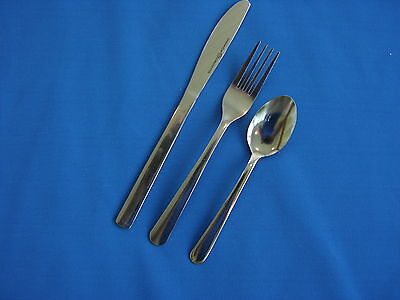 72 Pieces (24) 3 Piece Place Settings  18/0 Stainless Free Shipping Us Only