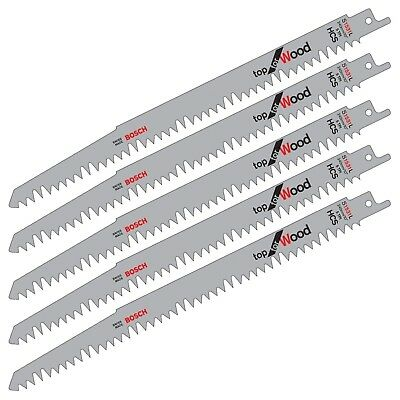 "5 Bosch S1531L Reciprocating Sabre Saw Blades WOOD Pruning Recip 9.5"" 240mm"