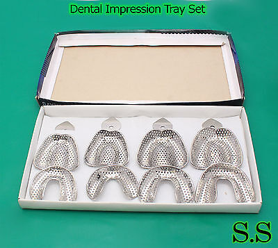20 Dental Impression Tray Set Solid & Perforatted