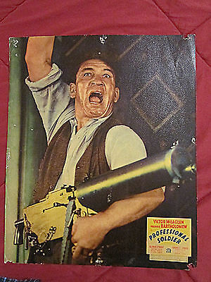 Professional Soldier (1935) Two Victor Mclaglen Portrait Rare Jumbo Lobby Cards