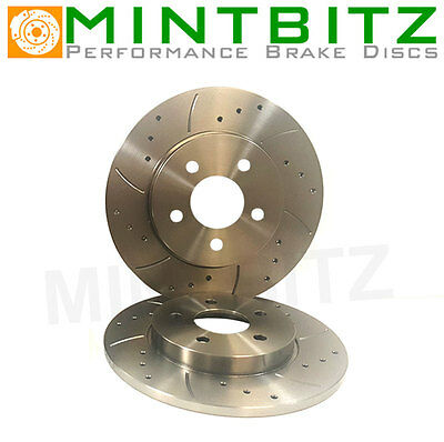 Audi A4 Quattro B6 2.5 V6 TDi 00- Drilled And Grooved Rear Brake Discs
