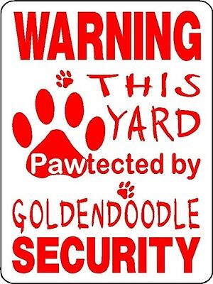 Goldendoodle Dog Security Aluminum Sign Decal D3211
