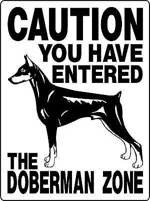 DOBERMAN Guard Dog Aluminum Sign Dogs Vinyl Decal 2195