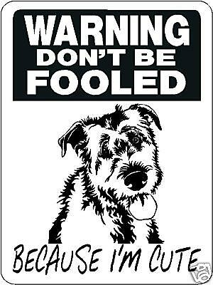 Irish Wolfhound Security Aluminum Sign Warning Dog 3327