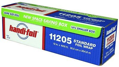 "Handi-Foil 12""x1000' Standard Aluminum Food Kitchen Wrap Roll Premium Quality"