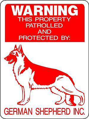 GERMAN SHEPHERD GUARD DOG Aluminum Sign Decal D727