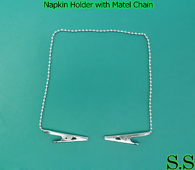 Napkin Holder with Metal Chain Dental Instruments 20 pc