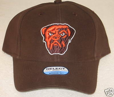 NFL CLEVELAND BROWNS Brown Structured Flex Fit Fitted Hat By Reebok ... 7c903904c0f2