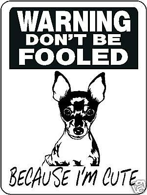 Fox Terrier, Dog, Breed, Security, Aluminum Sign  3380