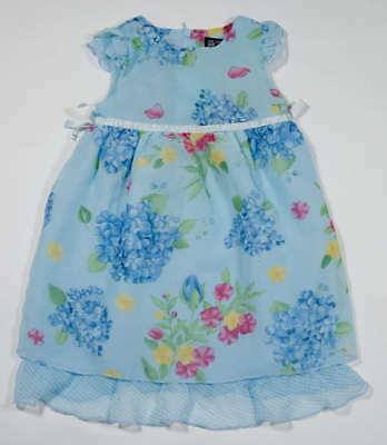 The Childrens Place Baby Girls Size 12M Dress Tcp Hydrangea Easter Spring Floral