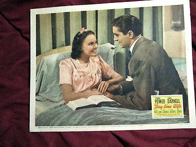Antiques Rare Vintage 1939 Original Linda Darnell In Day-time Wife Color Lobby Card Fine Cheap Sales Lobby Cards