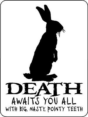 Rabbit Bunny Warning Beware Death Aluminum Sign V2029