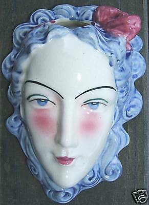 Vintage Victorian Ladys Head Wall Pocket Japan