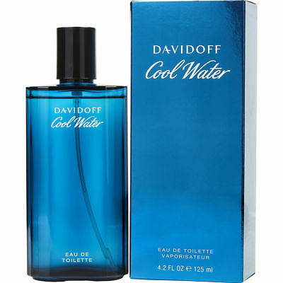 COOL WATER 125ml EDT SPRAY FOR MEN BY DAVIDOFF --------------------- NEW PERFUME